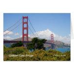 Productos de California de puente Golden Gate Tarjetas