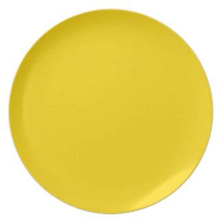 Productos de encargo amarillos de oro brillantes d platos