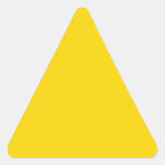 Productos de encargo amarillos de oro brillantes pegatina triangular