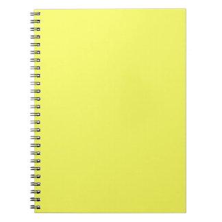 Productos de encargo amarillos soleados brillantes libreta