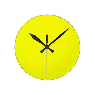 Productos de encargo amarillos soleados brillantes relojes