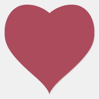 Productos de encargo color de rosa oscuros del pegatinas de corazon