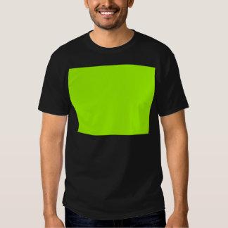 Productos de encargo verdes de neón del color camisas
