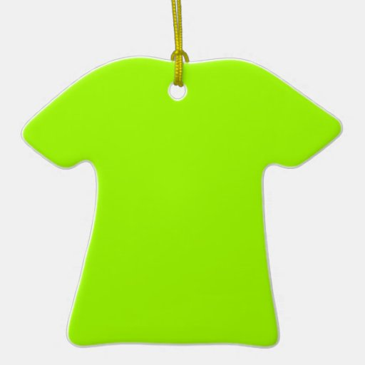 Productos de encargo verdes de neón del color adorno de cerámica en forma de playera