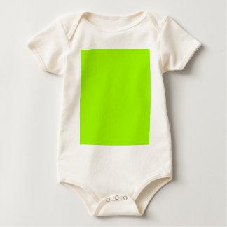 Productos de encargo verdes de neón del color mameluco de bebé