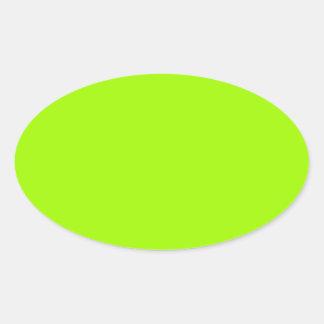 Productos de encargo verdes de neón del color pegatina ovalada