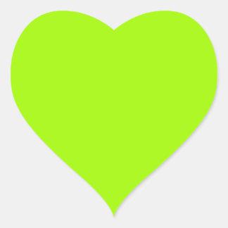 Productos de encargo verdes de neón del color pegatina en forma de corazón