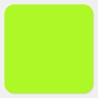 Productos de encargo verdes de neón del color pegatina cuadrada