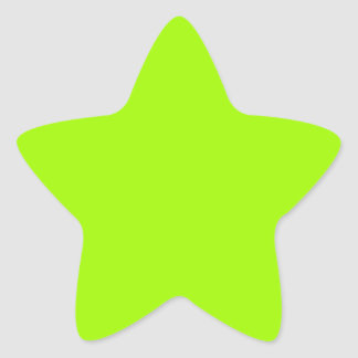 Productos de encargo verdes de neón del color pegatina en forma de estrella