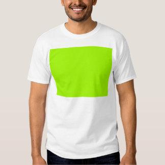 Productos de encargo verdes de neón del color playeras