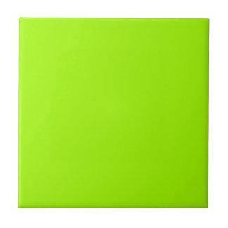 Productos de encargo verdes de neón del color sola azulejo cuadrado pequeño