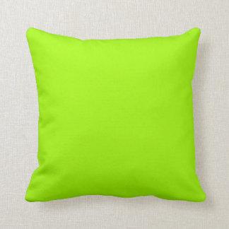 Productos de encargo verdes de neón del color sola cojín