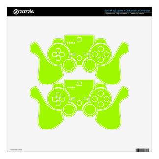 Productos de encargo verdes de neón del color sola skins para mandos PS3
