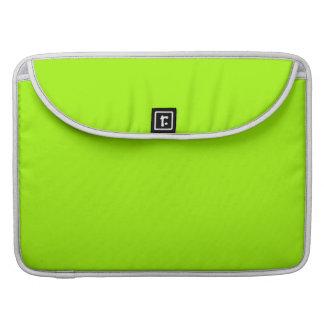 Productos de encargo verdes de neón del color sola funda macbook pro