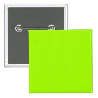 Productos de encargo verdes de neón del color sola pin cuadrado