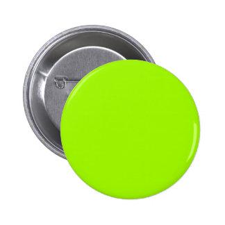 Productos de encargo verdes de neón del color sola pin redondo 5 cm