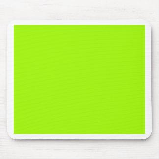 Productos de encargo verdes de neón del color sola tapete de ratones