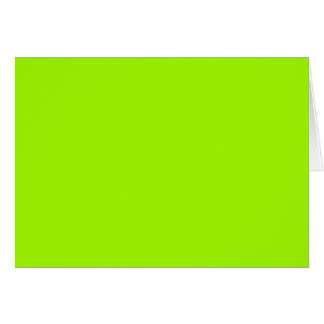 Productos de encargo verdes de neón del color sola tarjeta de felicitación