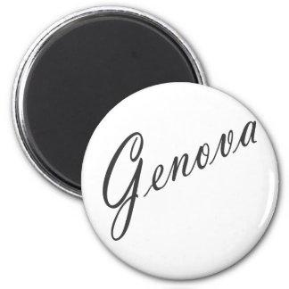 ¡Productos de Génova! Imán Redondo 5 Cm