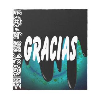 PRODUCTOS DE GRACIAS BLOCS DE NOTAS