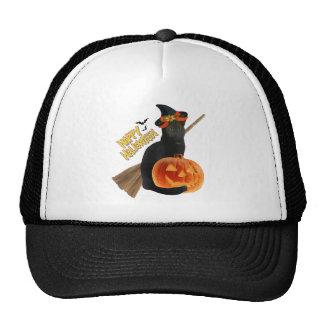 Productos de Halloween del gato negro Gorro De Camionero