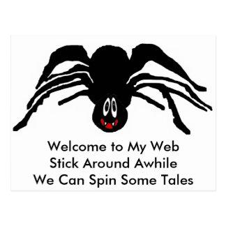 Productos de la araña tarjetas postales
