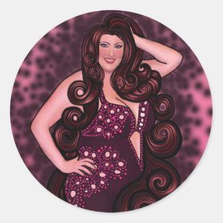 Productos de la bailarina de la danza del vientre pegatina redonda