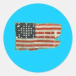 Productos de la bandera americana del vintage pegatinas