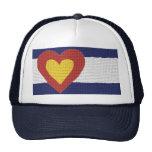 ¡Productos de la bandera de Colorado del corazón I Gorras De Camionero
