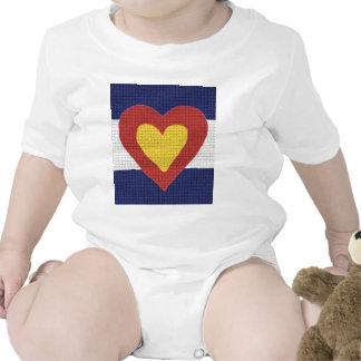 ¡Productos de la bandera de Colorado del corazón I Camisetas