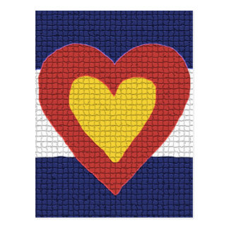 ¡Productos de la bandera de Colorado del corazón I Postales