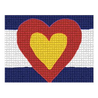 ¡Productos de la bandera de Colorado del corazón Postal