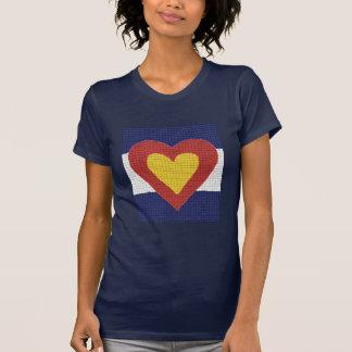 ¡Productos de la bandera de Colorado del corazón Remera