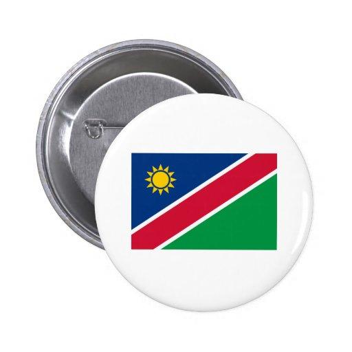 Productos de la bandera de Namibia Pin Redondo 5 Cm