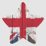 Productos de la bandera del Union Jack Pegatina Forma De Estrella Personalizadas