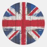 Productos de la bandera del Union Jack Pegatina Redonda
