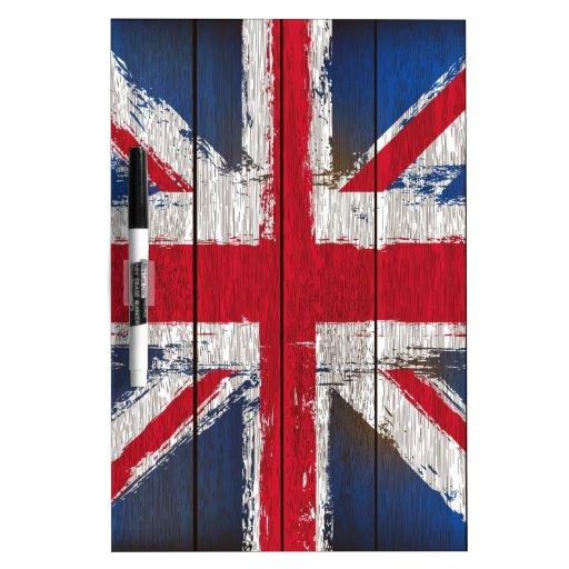 Productos de la bandera del Union Jack Pizarras Blancas De Calidad