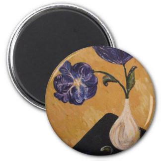 """Productos de la bella arte de las """"bellezas azules imán redondo 5 cm"""