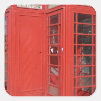 Productos de la cabina de teléfono de Londres Pegatina Cuadrada