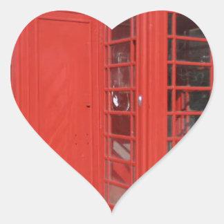 Productos de la cabina de teléfono de Londres Pegatina En Forma De Corazón