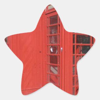 Productos de la cabina de teléfono de Londres Pegatina En Forma De Estrella
