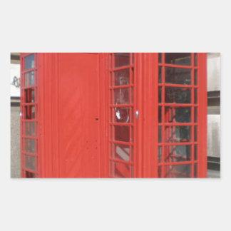 Productos de la cabina de teléfono de Londres Pegatina Rectangular