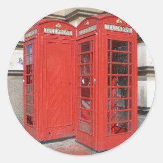 Productos de la cabina de teléfono de Londres Pegatina Redonda