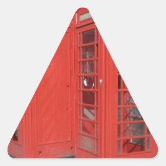 Productos de la cabina de teléfono de Londres Pegatina Triangular