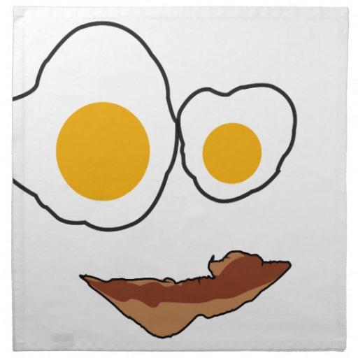 Productos de la cara del desayuno servilleta imprimida
