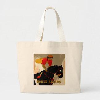 productos de la carrera de caballos bolsas lienzo
