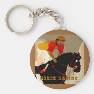 productos de la carrera de caballos llavero redondo tipo pin