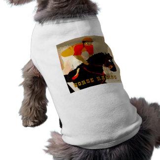 productos de la carrera de caballos camisa de perrito