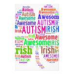 Productos de la conciencia del autismo del día de   papeleria de diseño
