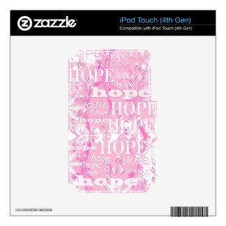 Productos de la conciencia del cáncer de pecho de  calcomanía para iPod touch 4G